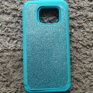 🍂SALE! Galaxy S7 Edge Blue Glitter Phone Case